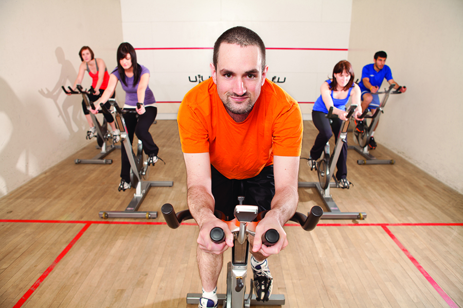 cycling in the fitness centre