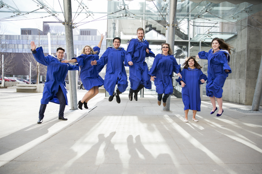 NAIT grads celebrate convocation in their gowns