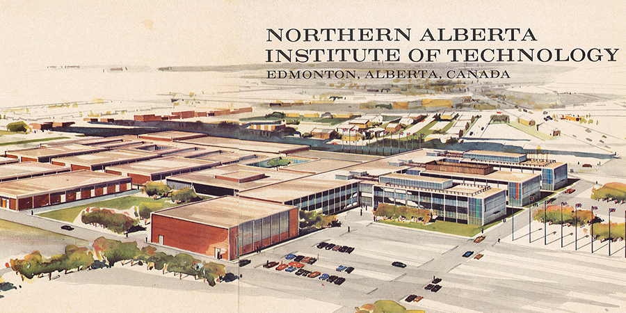 Program from 1963 grand opening of NAIT