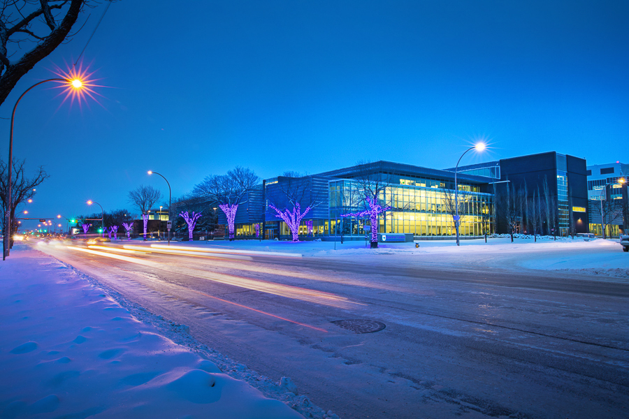 NAIT main campus in winter