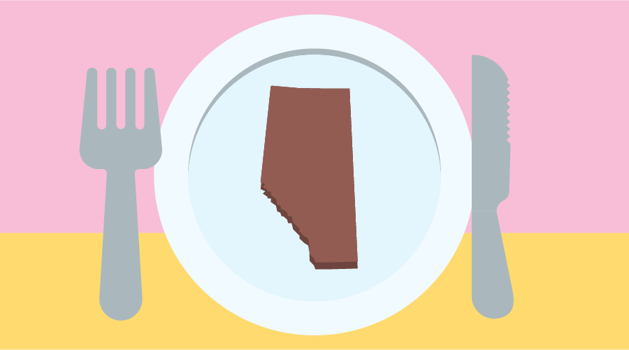 local alberta food graphic