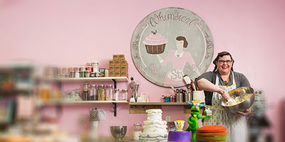 Darcy Scott, owner of Whimsical Cake Studio
