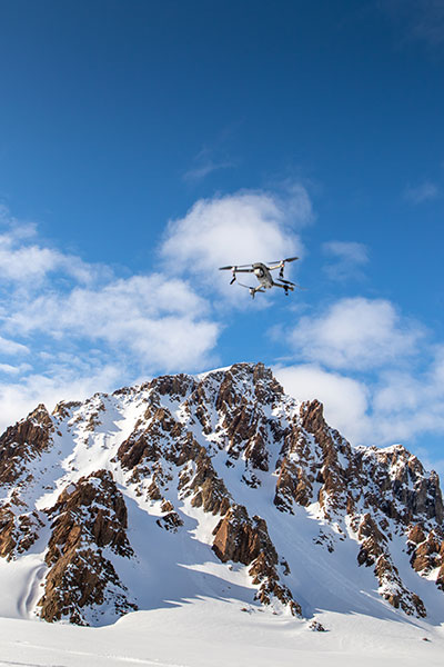 drone in arctic