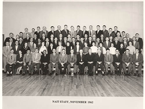NAIT staff photo 1962
