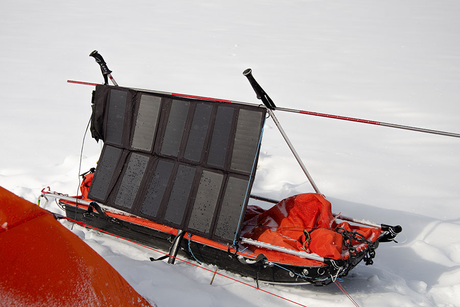 solar charging station for arctic expedition