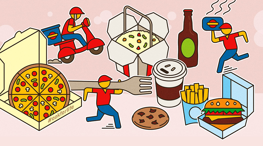 Illustration of takeout options