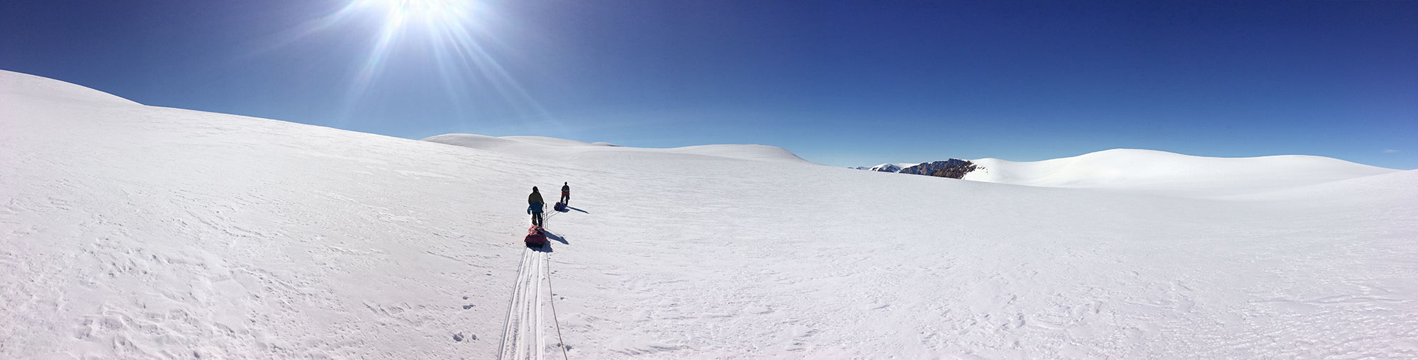 skiing on ellesmere island