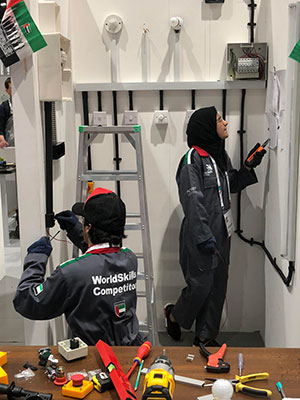 women in trades at worldskills abu dhabi 2017