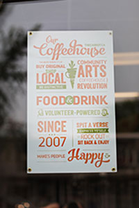 carrot community arts coffeehouse poster, edmonton, Alberta Avenue, 118 avenue