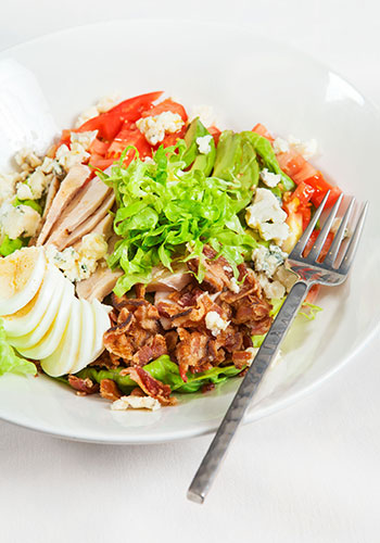 cobb salad, made at nait, edmonton