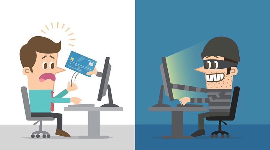 internet credit card information theft