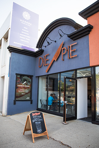 Die Pie pizzeria on Edmonton's Jasper Avenue