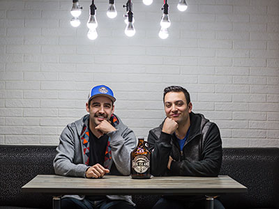 Chad Paulson and Ben Fiddler, owners and operators of Dog Island Brewing