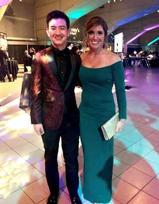 josh hui and carrie doll c-host the 2019 stollery snowflake gala