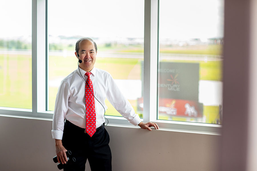 ken gee, announcer, century mile casino and race track