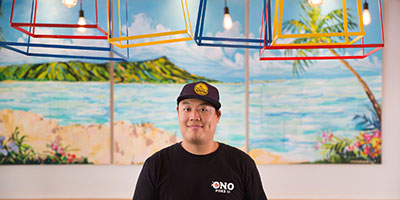lawrence hui, chef and owner at ono poke, edmonton