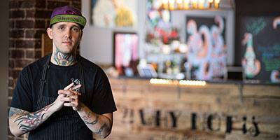 levi biddlecombe, owner of why not cafe, edmonton