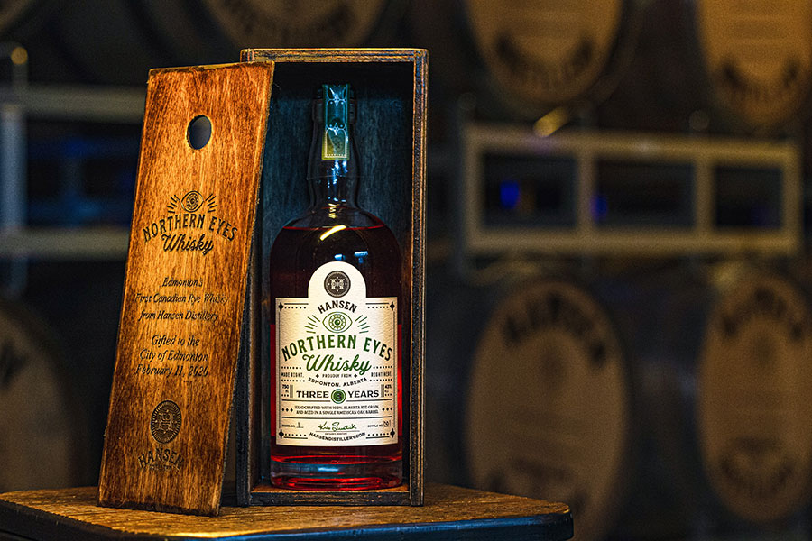 norther eyes whisky from hansen distillery edmonton