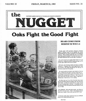 the nugget, nait student newspaper, 1985