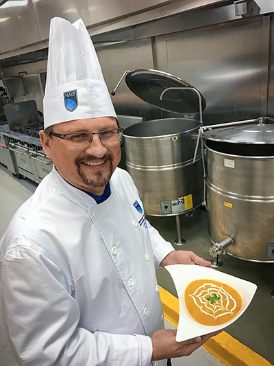 Culinary Arts instructor Randall Stasuk enjoys getting creative with turkey leftovers.