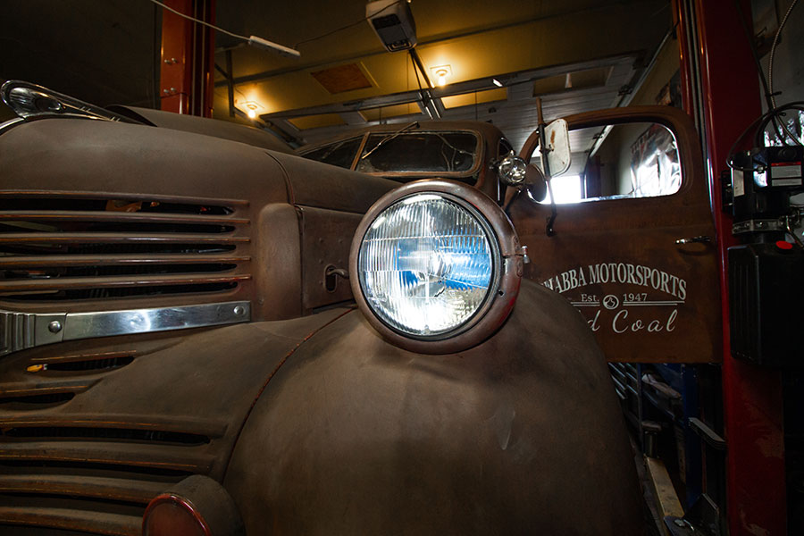 rat rods by matteo medoro, 1947 dodge front view, headlight