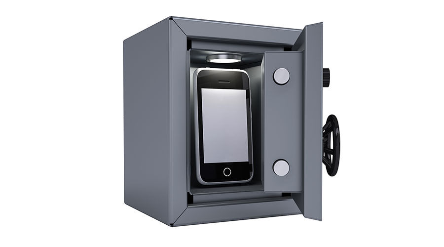 smartphone in a safe