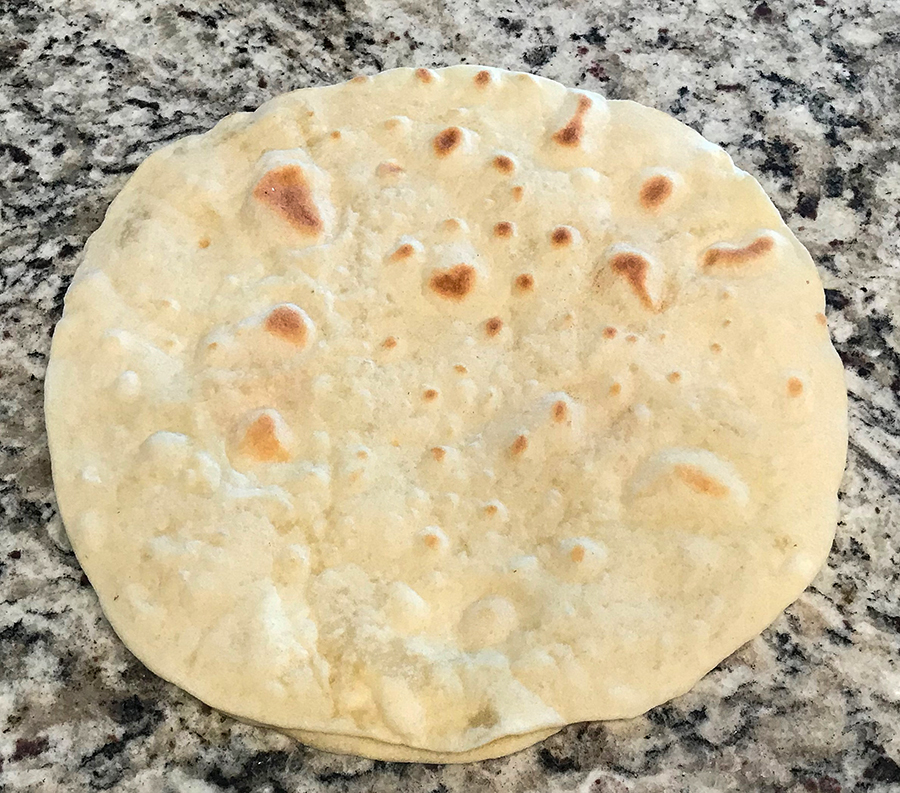 a homemade sourdough tortillas