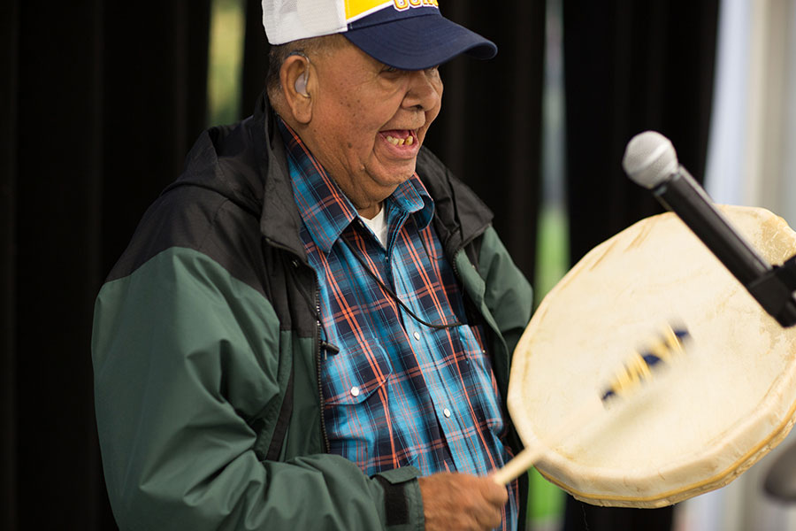walter bonaise drumming at NAIT